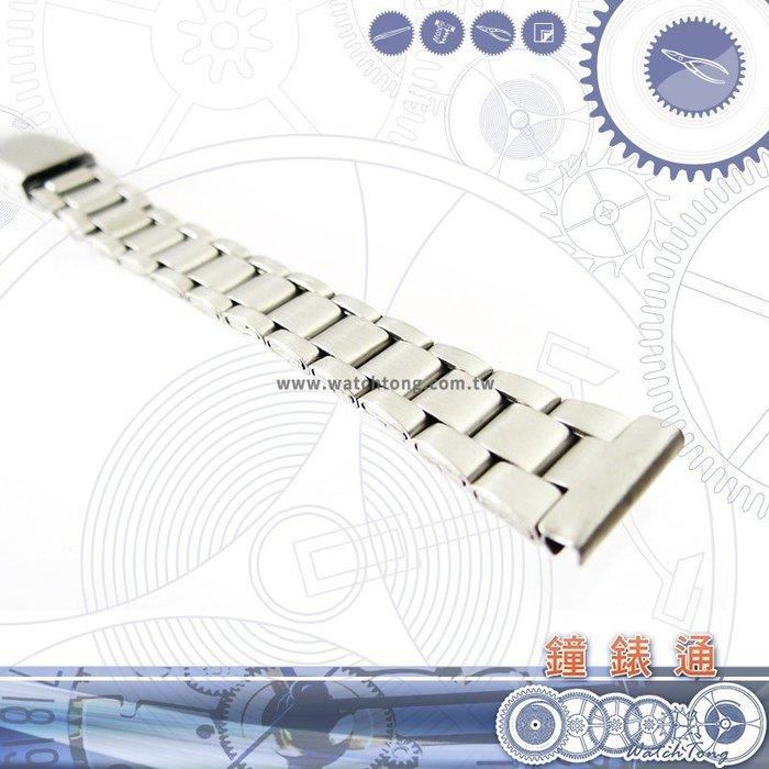 【鐘錶通】板折帶 金屬錶帶 B3314S - 14mm