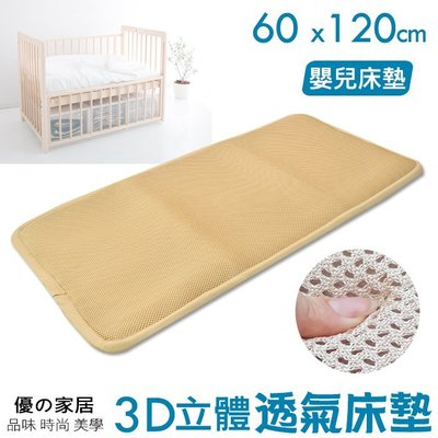 【優の家居】3D蜂巢透氣嬰兒床墊(四角鬆緊帶固定) 60x120嬰兒床專用平單式 睡墊 透氣涼墊 嬰兒床涼墊~桃園可自取