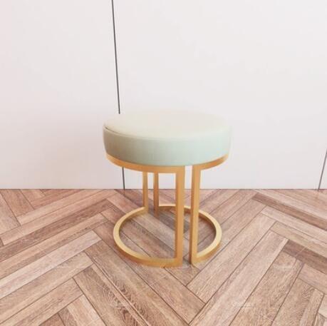 梳妝凳北歐圓凳ins化妝凳梳妝臺小凳子矮凳輕奢化妝椅門口換鞋凳-紫色薇洋-可開發票