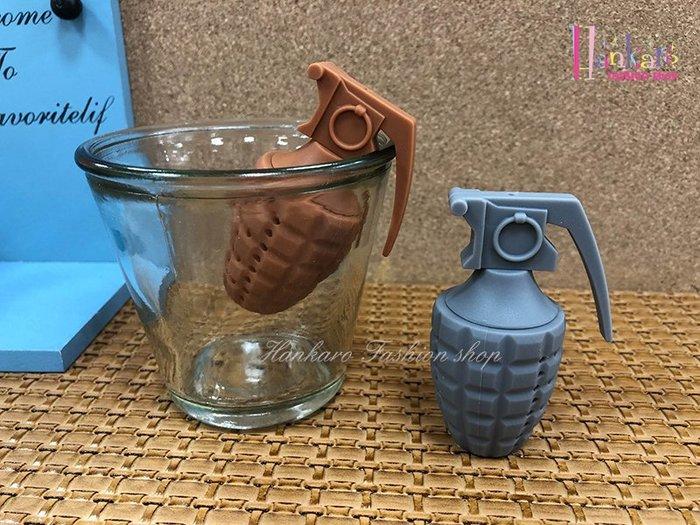 ☆[Hankaro]☆ 創意趣味矽膠手榴彈造型沖茶器