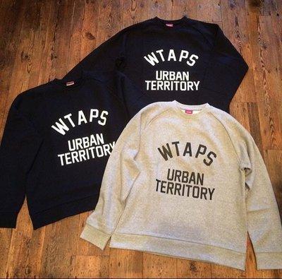 【日貨代購CITY】2015AW WTAPS URBAN TERRITORY CREW 長TEE 黑.灰 現貨