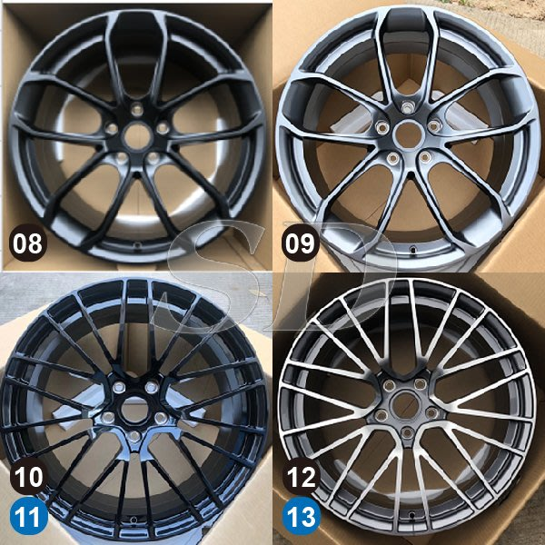 【SD祥登汽車】 For Porsche 保時捷 22吋 鍛造鋁圈 8款 13款 另有01款-43款可選擇