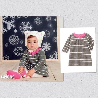 美國童裝GYMBOREE正品 新款 Scalloped Stripe Dress連身裙洋裝18~24m....售490元