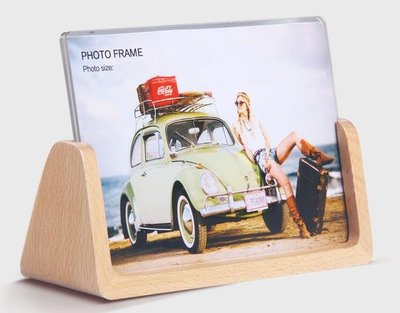 歐式木質相框擺台創意6 7寸七寸壓克力宜家韓版現代沖印洗照片加  igo