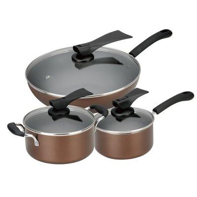 【全新快速出貨】ASD愛仕達 家系列不沾鍋具三件套組 平底鍋 炒鍋 湯鍋