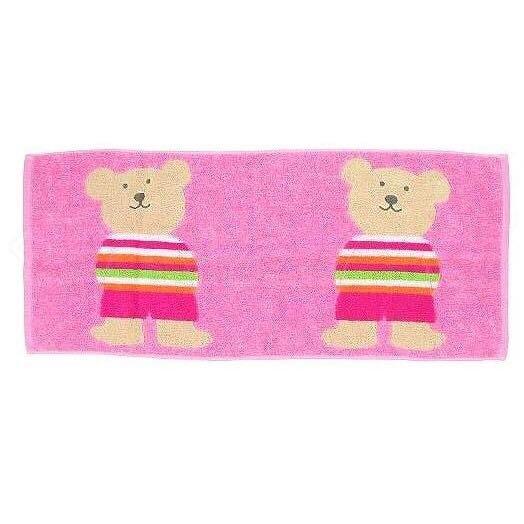 *現貨*日本製 Rainbow Bear 彩虹熊 純棉毛巾 長毛巾 34*80cm 兩隻大熊 今治產