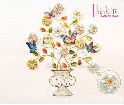 ☆[Hankaro]☆ 浪漫歐式鐵藝半立體效果奢華高貴牆壁掛飾(小號尺寸)