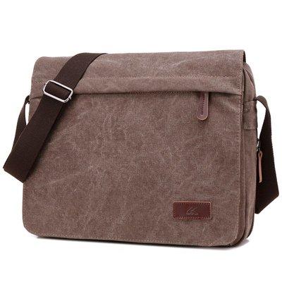 肩背包帆布手提包-多隔層純色大容量電腦包男包包3色73wa16[獨家進口][米蘭精品]