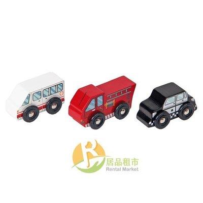 【居品租市】 專業出租平台 【出租】  mentari 木頭玩具 緊急救援小車隊
