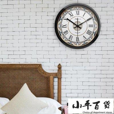 掛鐘 復古美式靜音鐘錶簡約掛鐘客廳創意...