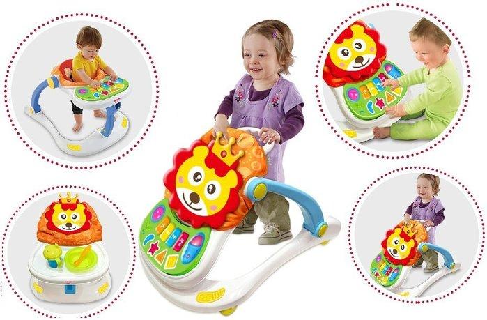 超級四合一多功能手推車助步車~是學步車也是遊戲台~還可以當餐桌~超實用~◎童心玩具1館◎