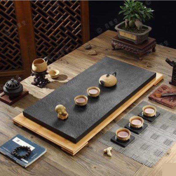5Cgo【茗道】含稅會員有優惠 26591104196 烏金石茶盤黑金石天然石茶盤高檔茶盤  長70*35cm