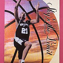 1999-00 SkyBox Dominion Sky`s the Limit Plus #14 Tim Duncan