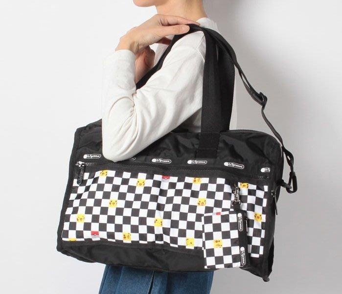 ♥ 小花日韓雜貨 ♥ -- lesportsac 4318 4319 史努比大款中款旅行袋出國出差行李包插行李拉杆設計