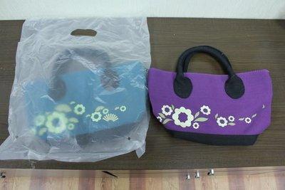 全新 Mister Donut 波提獅花漾包 綠/紫 色