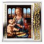 【鑒 寶】(世界各國紀念幣)紐埃2014年文藝復興名畫持康乃馨的聖母鍍金銀幣 HNC1755