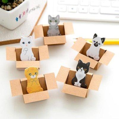 便利貼便條貼喵星人創意可愛小紙箱貓咪便簽本卡通