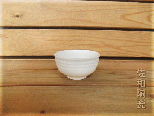 ~佐和陶瓷餐具~【82AD001-4 方格紋4碗(鎂質瓷)6入】/ 開店 餐廳 飯碗 強化瓷 /