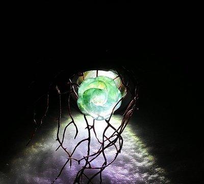 □§Disk的天然水晶§□【花開富貴】老坑冰種翡翠花朵小雕墜/戒指(15x15x5mm 2g)JW-31