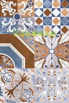 ◎冠品磁磚精品館◎進口精品 格羅寧亮釉面棕藍花壁磚(單花、混搭)–15X15CM