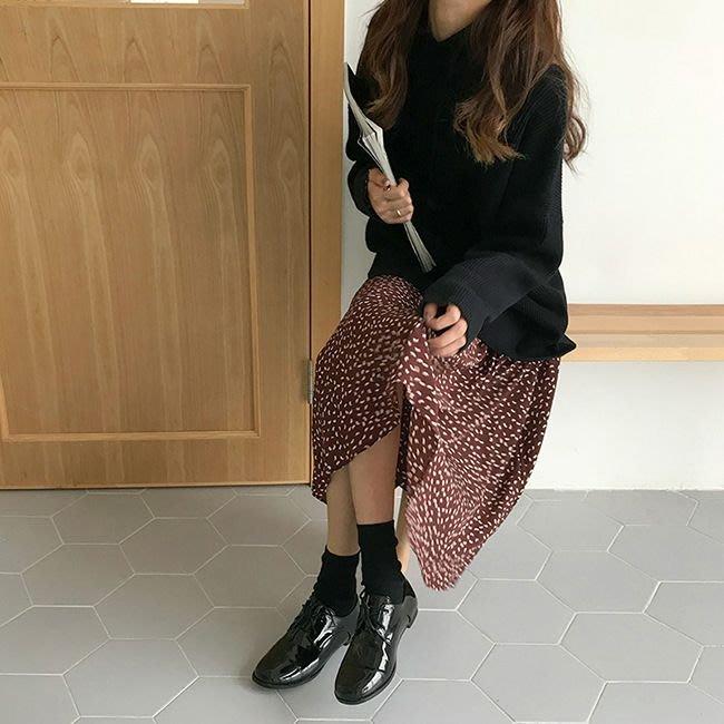 Copy&Paste【現貨】韓國訂單.顯瘦中筒襪純色設計女短襪學院風堆堆長襪子 黑色 特價 湊$699免運