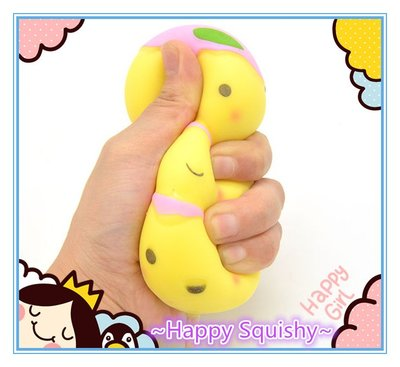 ~快樂莊園精選~IKUURANI 黃色毛毛蟲花見團子軟軟/減壓玩具/ 可拉擠擠樂! Squeeze(無香味)