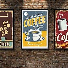 現代裝飾畫咖啡館餐廳烘焙壁畫酒吧復古懷舊貼畫食物(多款可選)