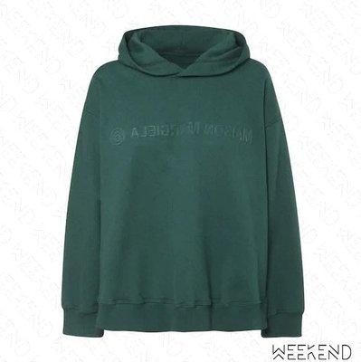 【WEEKEND】 MM6 MAISON MARGIELA Reversed Logo 長袖 上衣 衛衣 帽T 綠色