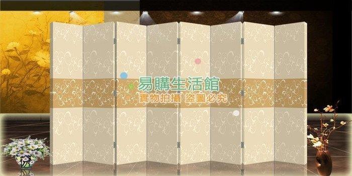 中式布藝屏風隔斷玄關時尚折屏時尚簡約花紋630【單扇防水】