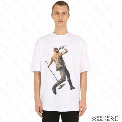【WEEKEND】 IH NOM UH NIT Laundered Works 男女同款 短袖上衣 T恤 白色 19春夏