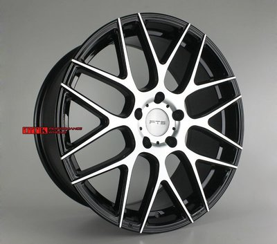 FLOW FORMING旋壓輕量化 FTS名牌GT16 19吋鋁圈 5X112/120適用 8.5J+9.5J 黑車面