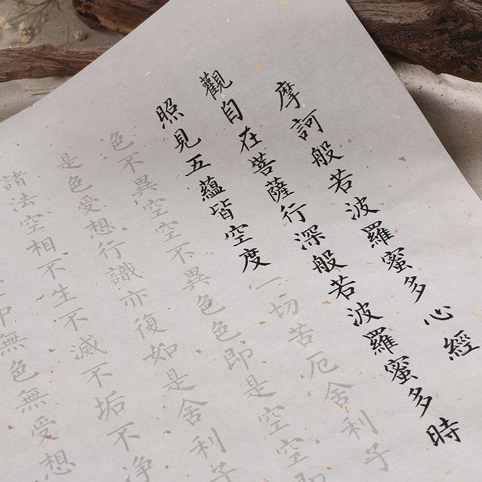 心經描紅宣紙 臨摹宣紙毛筆字字帖入門書法描紅小楷字帖抄經本