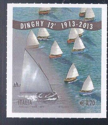 """2013年義大利""""Dinghy 12""""帆船比賽自黏郵票"""