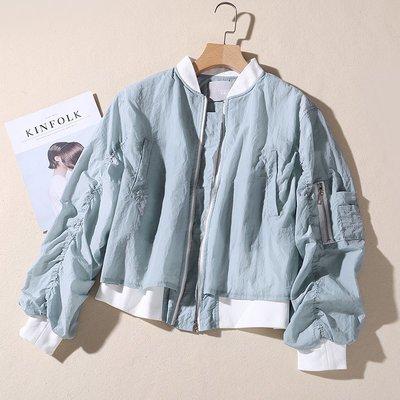 百搭 潮流 時尚 日系 港風短外套女春季新款雙層寬松短款夾克上衣簡約休閑女裝學生B7F131