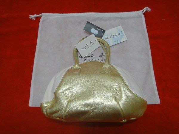 日本agnes b.頂級牛皮手提包(超值價出清)
