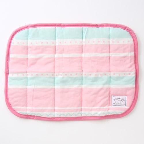 日本北極熊 夏日抗熱 涼感 冷感 透氣 粉紅條紋涼感枕巾