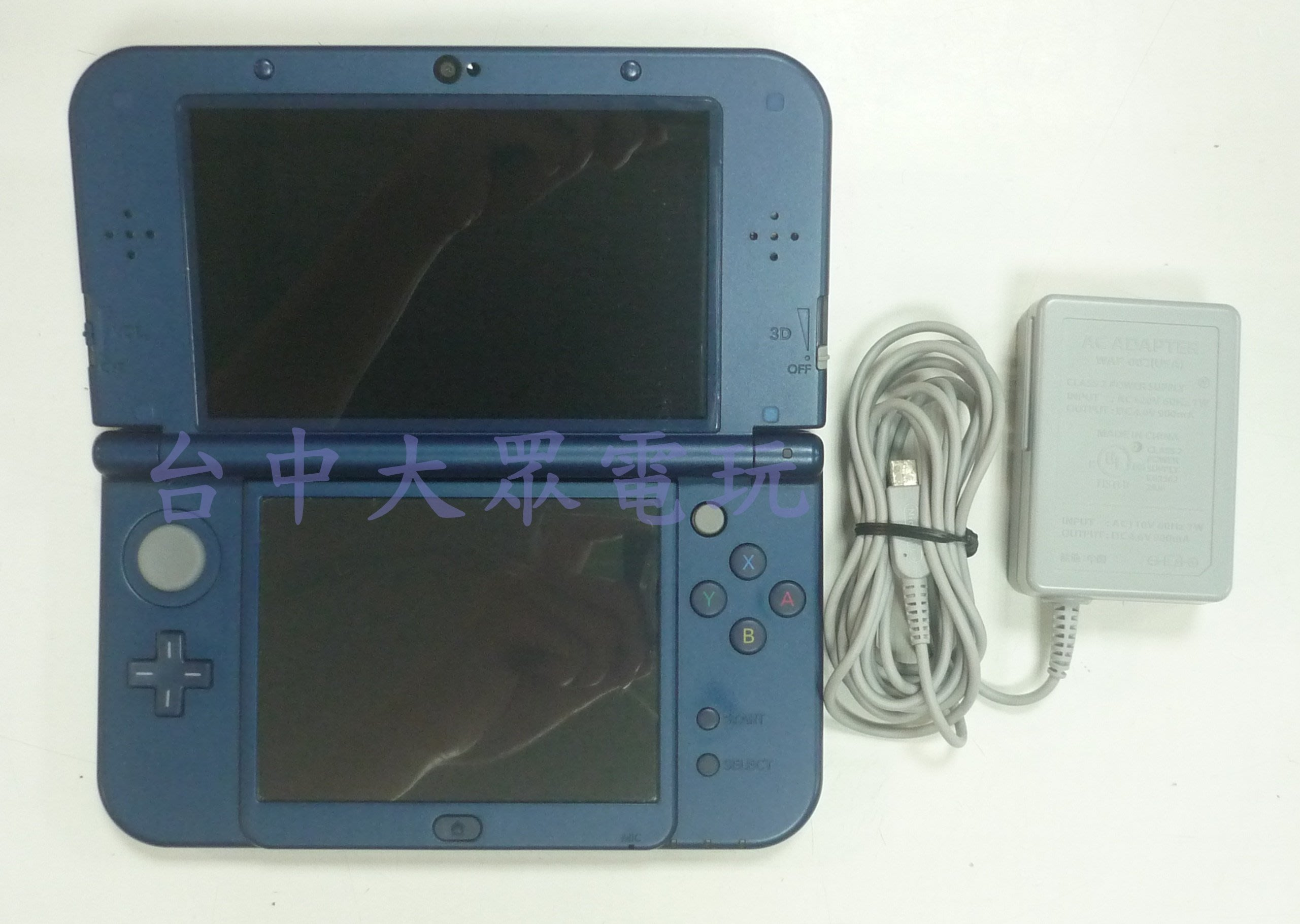 NEW 3DS LL 主機 日規 日版 (藍色) + 原廠充電器 **(二手主機-約8成新)【台中大眾電玩】