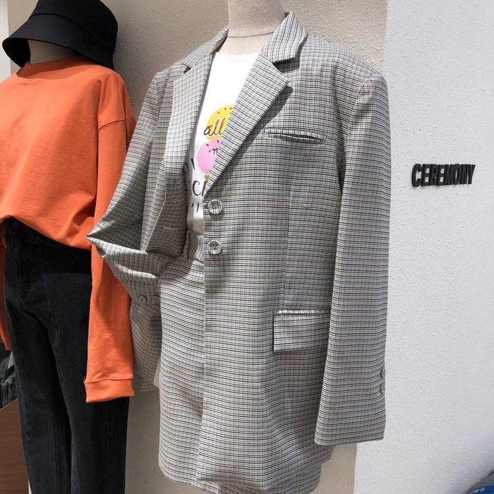 *Her Hanna* 保證正韓 設計師品牌 獨立文藝女青年 訂製款西裝外套短裙套裝(可拆賣) blackpink Jennie機場時尚CA0305001