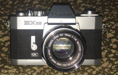 Canon EX EE QL 35mm單反相機,50mm鏡頭 1:1.8
