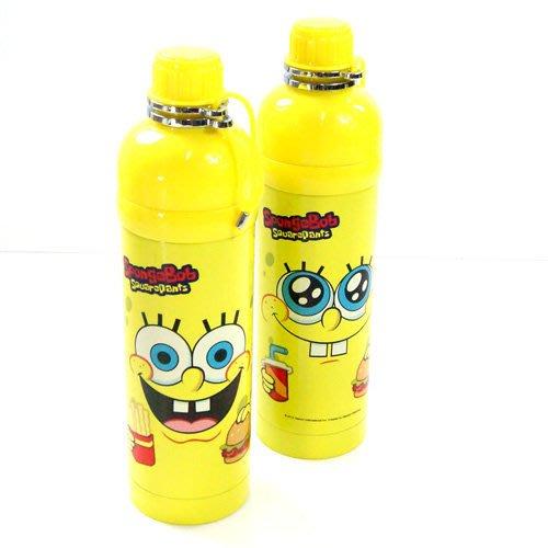 。小森親子好物。日本 Spongebob (海綿寶寶) 保冷專用 不銹鋼水壺500ml (現貨)【KF15120009】