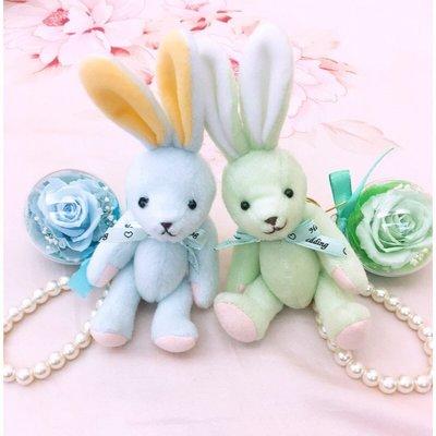 【現貨】可愛小兔永生花鑰匙圈吊飾包包吊飾