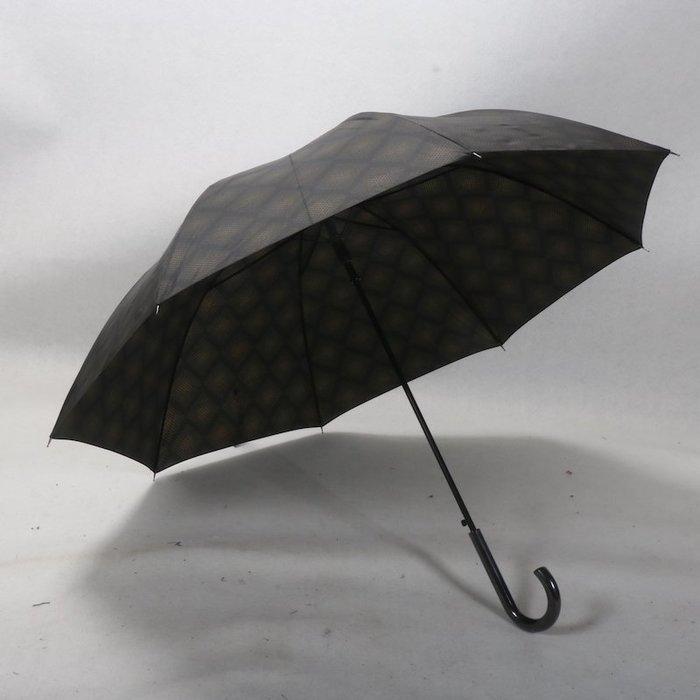 奇奇店-梭織印方格男士商務高爾夫大傘面雨傘#加固 #小清新 #晴雨兩用