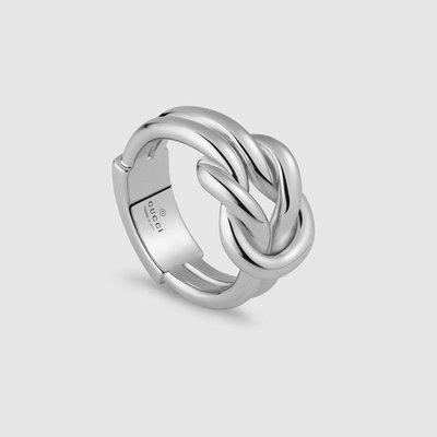 Gucci Knot 繩結銀戒指