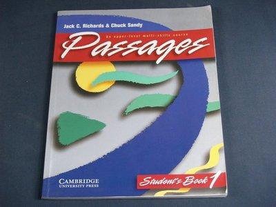 【懶得出門二手書】《Richards & Sandy Passages Students book 1》