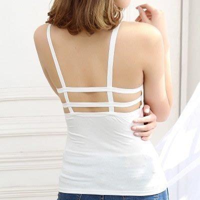吊帶小背心 T-bra-時尚後背雙線造型女內衣73il25[獨家進口][米蘭精品]