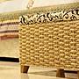 門廳鞋凳可坐人草編收納儲物換鞋沙發坐凳子兒童玩具箱擱腳沙發凳【忘憂雜貨鋪】