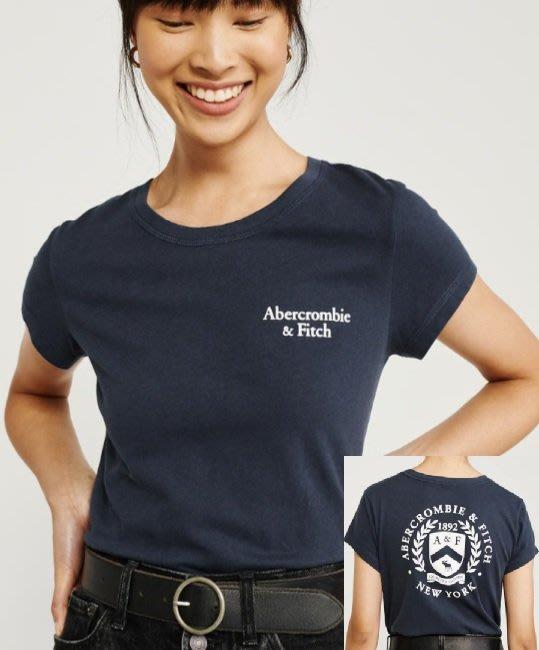 AF A&F 麋鹿 Abercrombie & Fitch 現貨 短T 女生 藍色