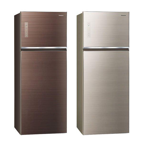可議價{8181家電樂購網}Panasonic國際 485公升 雙門變頻無邊框玻璃電冰箱 NR-B489TG
