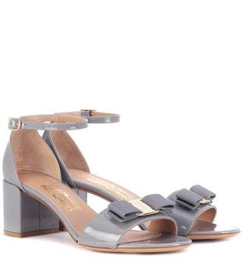 SALVATORE FERRAGAMO  Vara Patent Leather Sandals