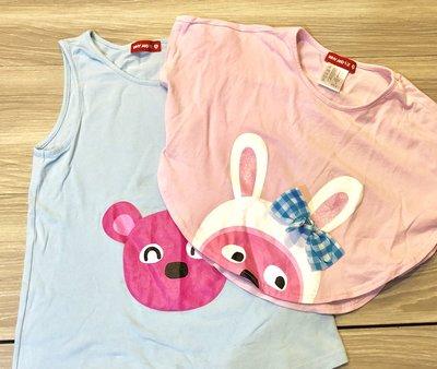 Why and 1/2 (9號)普普熊 兩件式 罩衫/背心 二色擇一*二手品